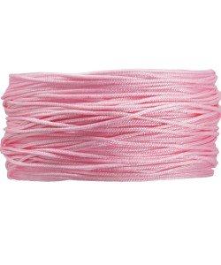 BA103 Macramé koord 0,8 mm 1 m kleur Pink