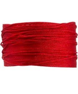 BA105 Macramé koord 0,8 mm 1 m kleur Red