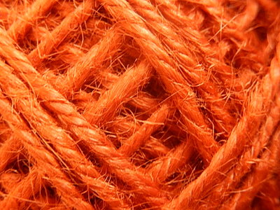 DRJ009 Natuurlijk sisal koord 1 meter lang oranje 2 mm
