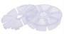 X9128 Diamond painting opbergdoos 11x3 cm met 8 opbergvakjes wit_